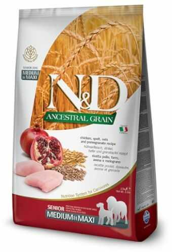 N&D ANCESTRAL GRAIN CHICKEN, SPELT, OATS&POMEGRANATE Senior Medium/Maxi