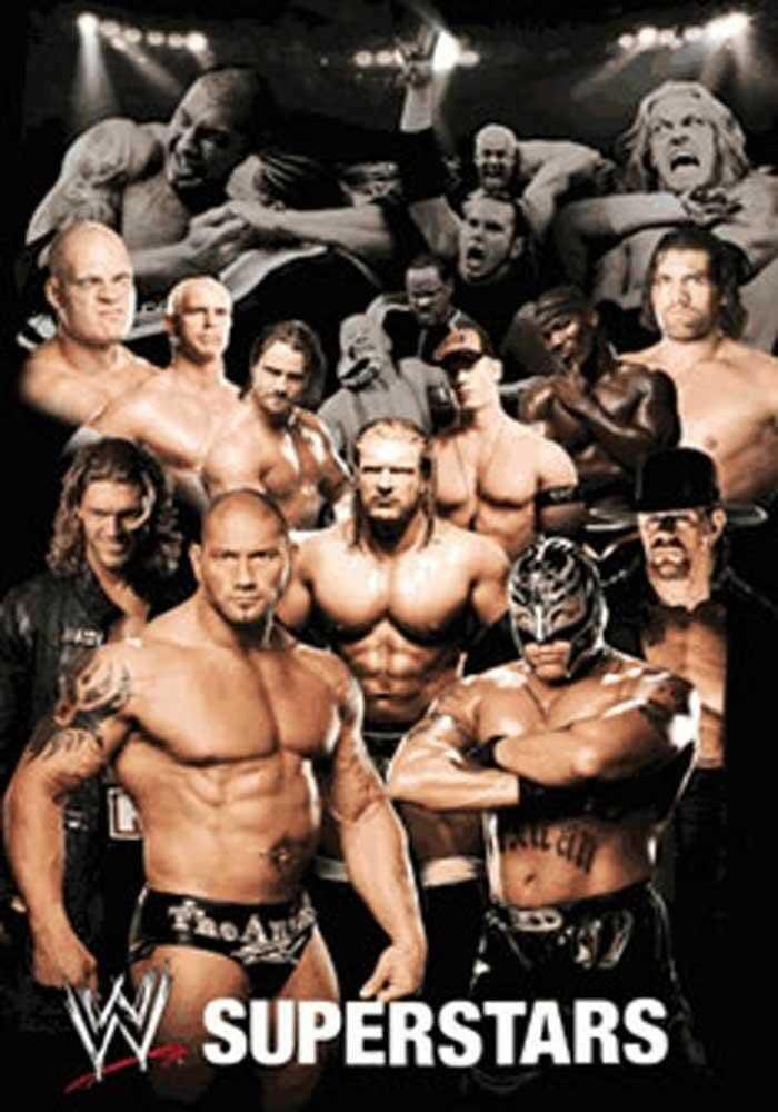 empireposter - Wrestling - WWE - kolaż plakat 3D - wymiary (cm), ok. 47x67 - plakat 3D, nowy -