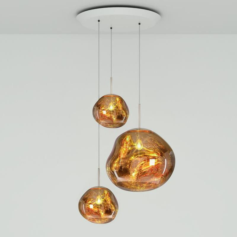 Melt Trio Round złoty - Tom Dixon - lampa wisząca  GWARANCJA NAJNIŻSZEJ CENY!