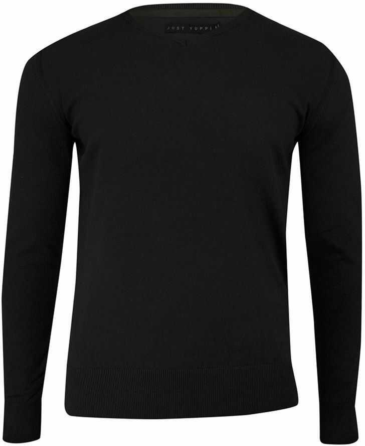 Sweter w Serek Czarny (V-neck), Klasyczny -JUST YUPPI- Męski, Elegancki SWJTYUPSW10200kol2czarny
