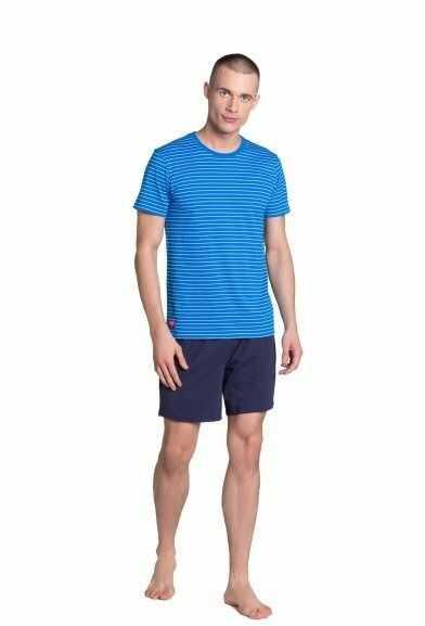 Esotiq-henderson lane 38873 niebieska piżama męska