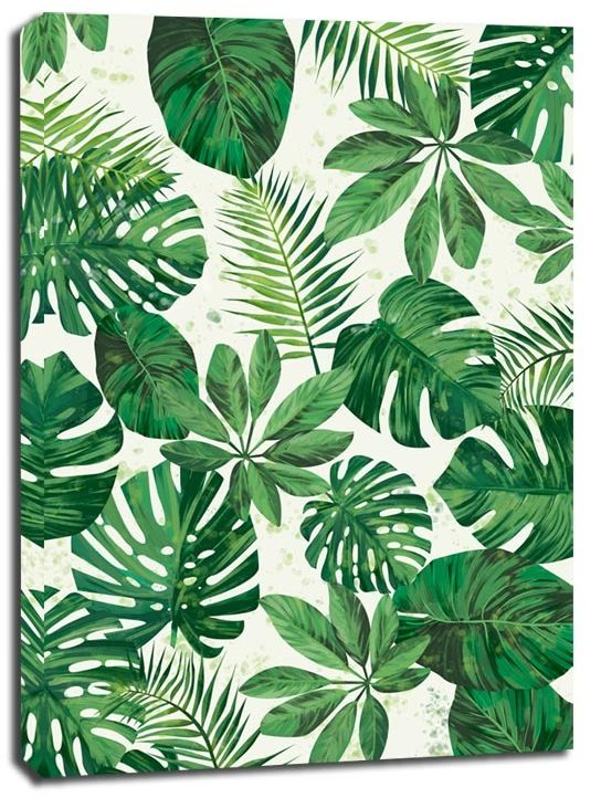Zielone tło ii - obraz na płótnie wymiar do wyboru: 20x30 cm