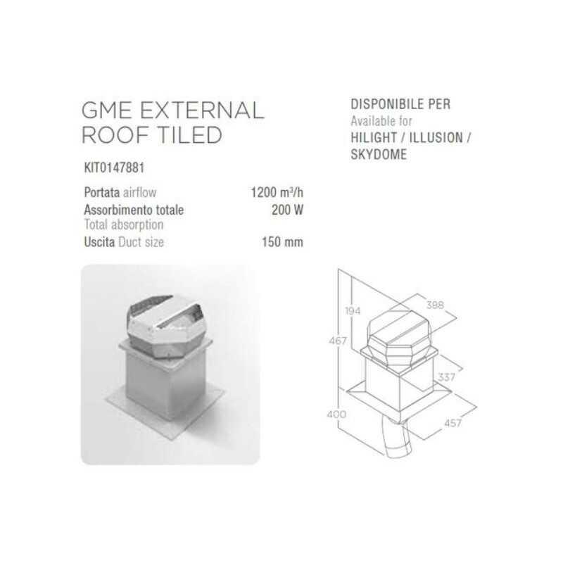 Silnik ELICA GME EXTERNAL ROOF TILED (dachowy) - Największy wybór - 28 dni na zwrot - Pomoc: +48 13 49 27 557