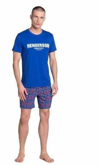 Esotiq-henderson lid 38874 niebieska piżama męska