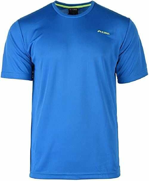 Elbrus Męski T-shirt Glodi niebieski Cloisonne/Safety Yellow XXL