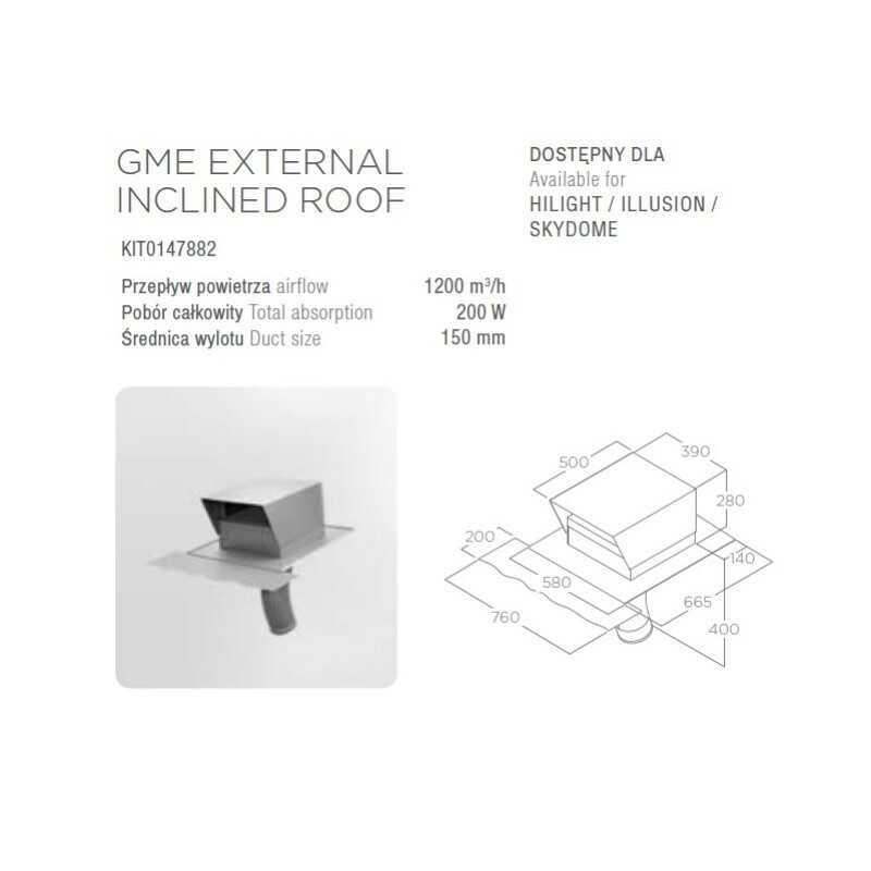 Silnik ELICA GME EXTERNAL INCLINED ROOF (dachowy) - Największy wybór - 28 dni na zwrot - Pomoc: +48 13 49 27 557