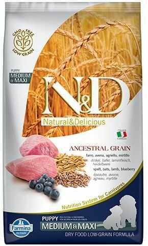 N&D Ancestral Grain Lamb, Spelt, Oats & Blueberry Puppy Medium/Maxi