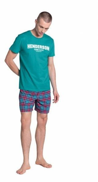 Esotiq-henderson lid 38874 turkusowa piżama męska