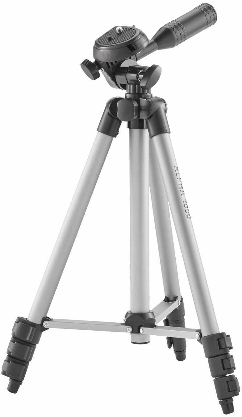 CULLMANN Alpha 1000 Statyw Z Głowicą 3-Drożną (3 Szuflady, Waga 480 G, Nośność 1 Kg), Standardowe, Srebro, Höhe: 106Cm, Cu 52100