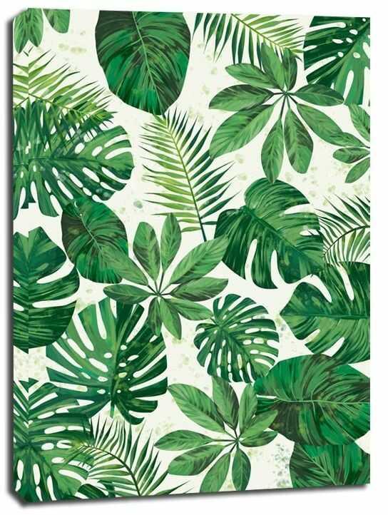 Zielone tło ii - obraz na płótnie wymiar do wyboru: 40x50 cm