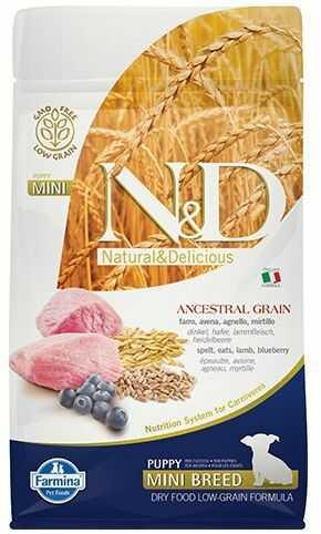 N&D Ancestral Grain Lamb, Spelt, Oats & Blueberry Puppy Mini