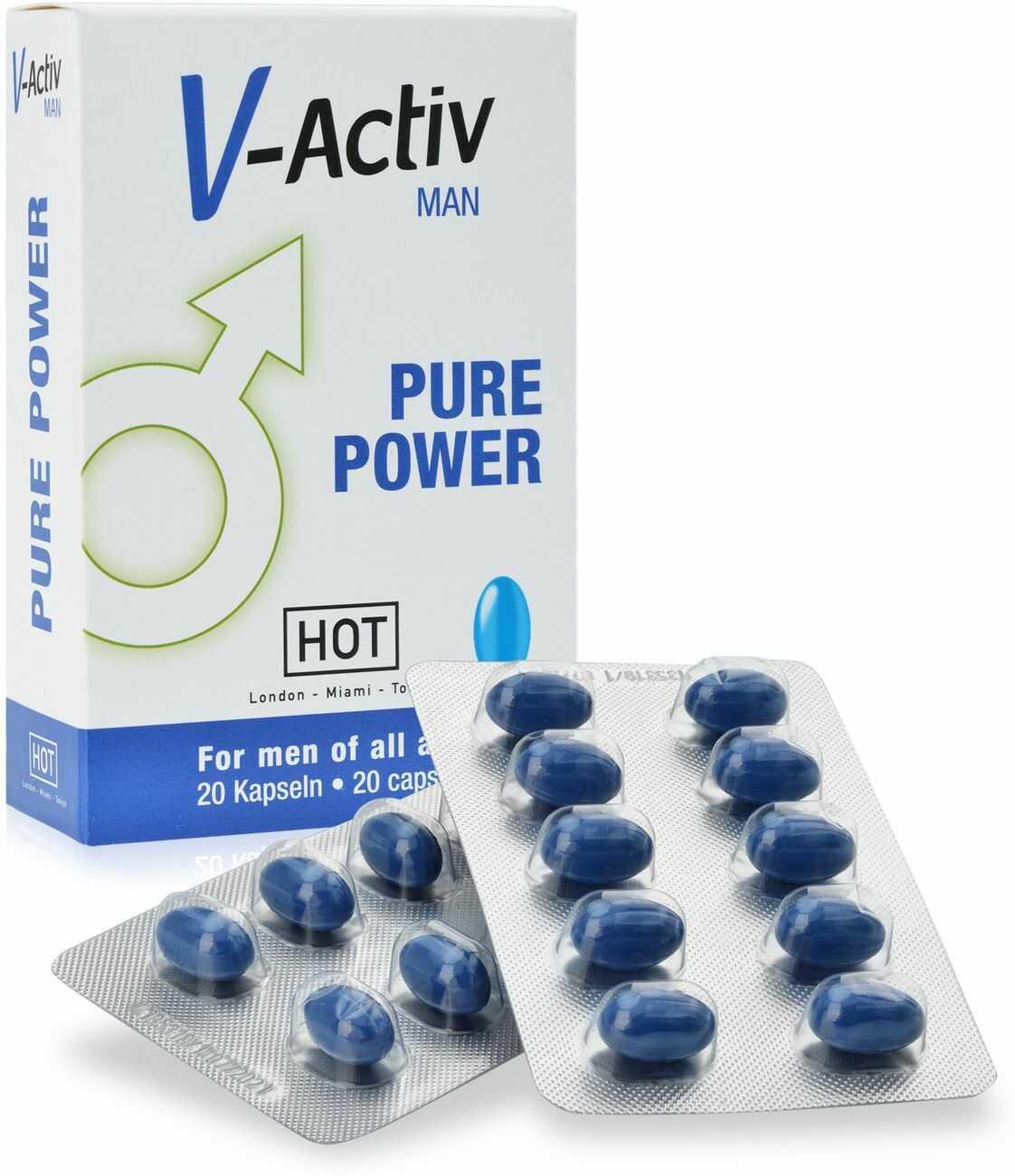 SUPLEMENT DIETY V-ACTIV FOR MEN  SKUTECZNY ŚRODEK NA POTENCJĘ - 20 TABLETEK