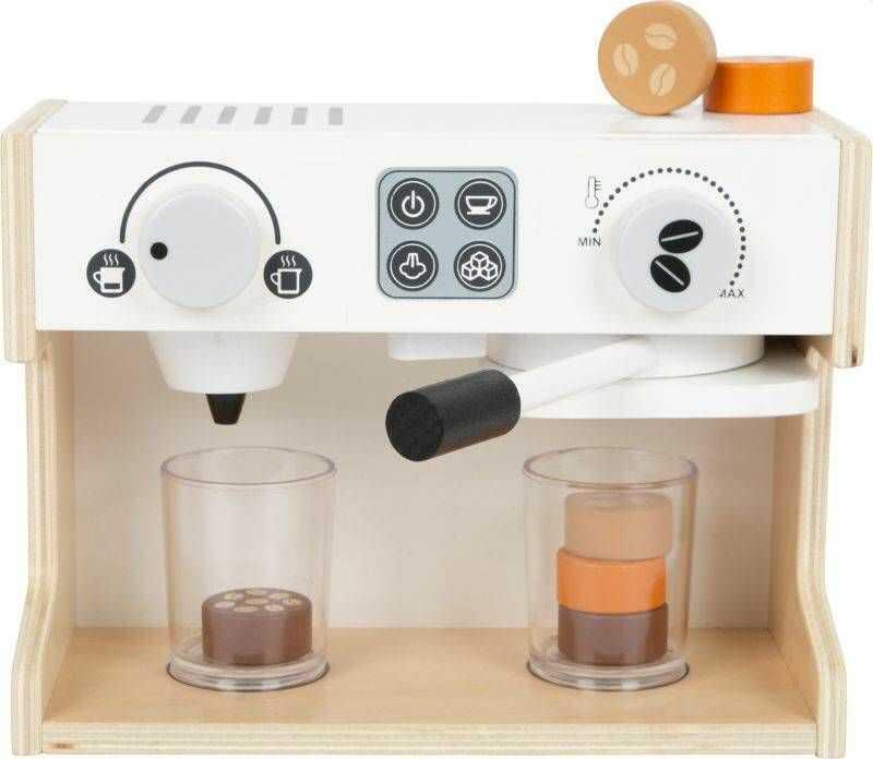 Drewniany ekspres do kawy Bistro Coffee 11792-Small Foot, kuchnia dziecięca