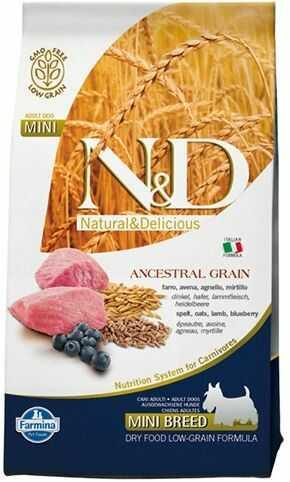 N&D Ancestral Grain Lamb, Spelt, Oats&Blueberry Adult Mini Dog