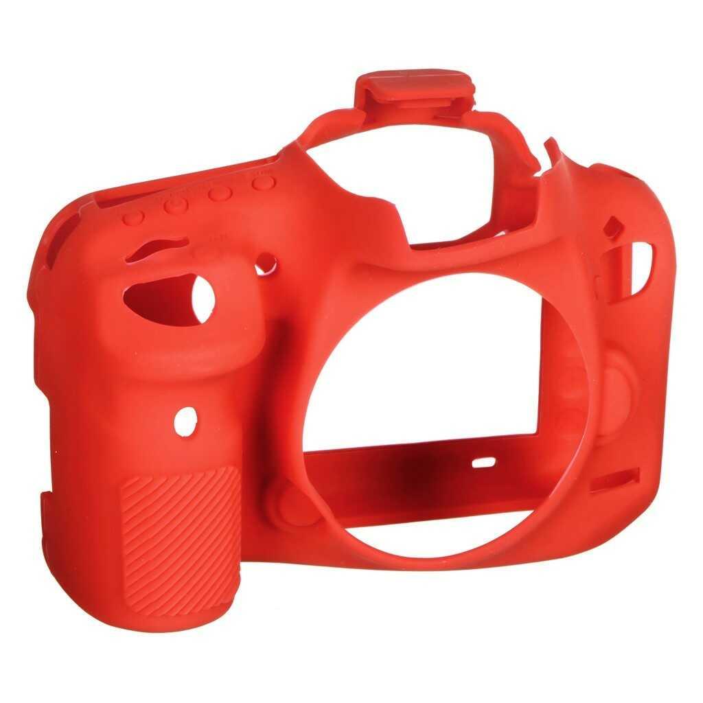 Osłona silikonowa easyCover do aparatów Canon EOS 7D Mark II czerwona