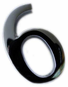 Cyfra na dom 5 cm CHROM 0