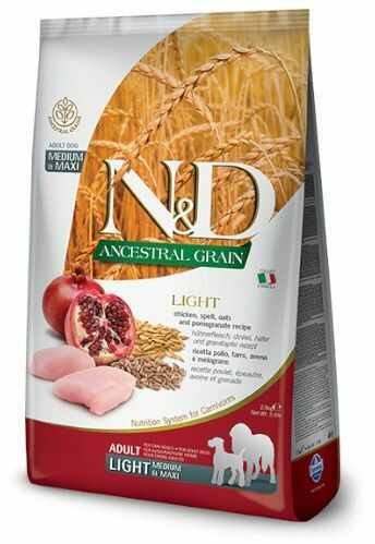 N&D Ancestral Grain Light Chicken, Spelt, Oats & Pomegranate Adult Medium/Maxi Dog