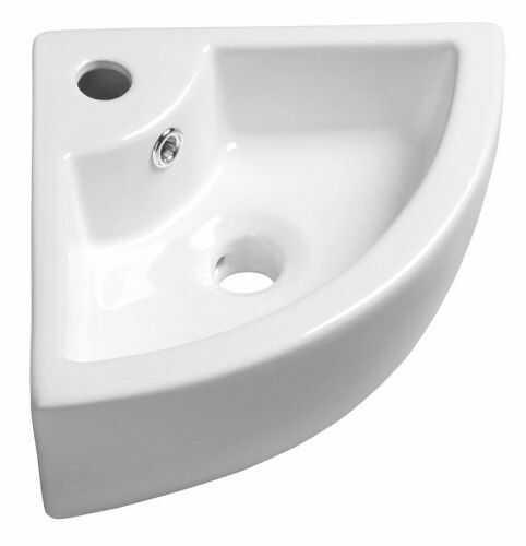 Umywalka nablatowa narożna 46x13x33 cm ceramiczna
