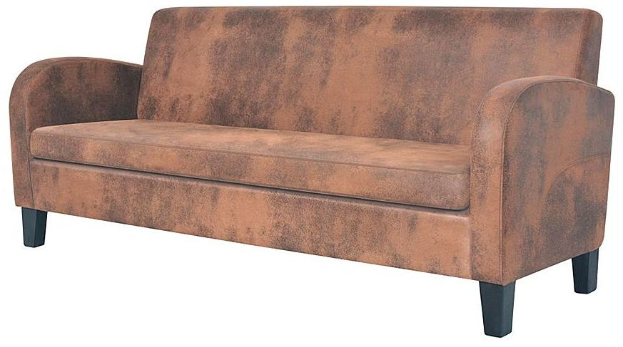 Trzyosobowa sofa Mayor 3X - brązowa