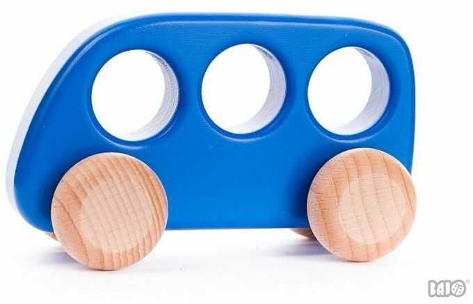 Drewniany samochód, Bus, 41510-Bajo, samochody zabawki