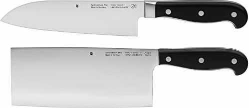 WMF Spitzenklasse Plus Asia 2-częściowy zestaw noży kuchennych, kuty nóż szefa kuchni Performance Cut