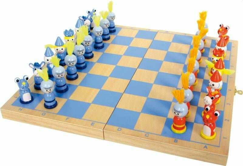 Drewniane szachy Rycerski pojedynek 6084-Small Foot, gry dla dzieci