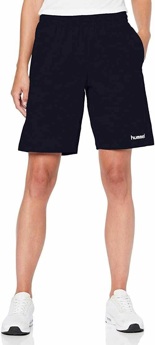 hummel damskie spodenki bermudy bawełniane Hmlgo damskie - bermudy szorty dla kobiet bermudy Marine M