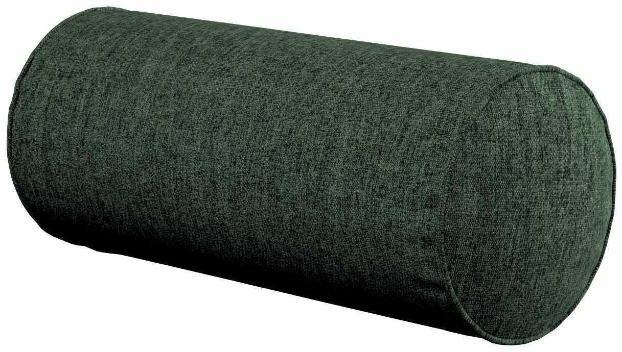 Poduszka wałek prosty, leśna zieleń szenil, Ø16  40 cm, City