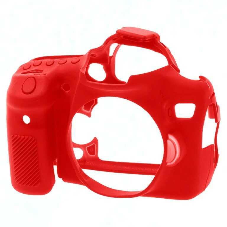 Osłona silikonowa easyCover do aparatów Canon EOS 70D czerwona