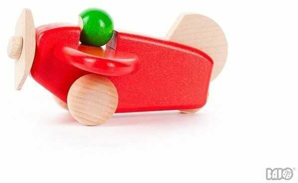 Drewniany samolocik, 42030-Bajo, zabawki dla chłopców