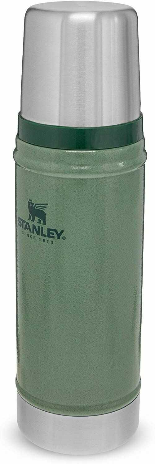 Stanley Classic Legendary Bottle 0.47L / 16OZ Hammertone Green  Termos ze Stali Nierdzewnej BEZ BPA - Utrzymuje zimno lub ciepło przez 15 godzin - Do Mycia w Zmywarce