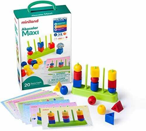 Miniland 45309 Abacolor Maxi, wielokolorowy