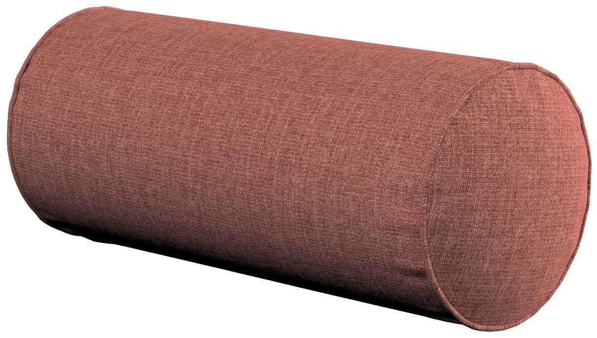 Poduszka wałek prosty, brązowo-koniakowy, Ø16  40 cm, City