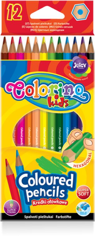 Kredki ołówkowe 12 kolorów Colorino 814687