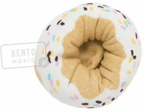 Skarpetki w kształcie pączka z lukrem i kolorową posypką