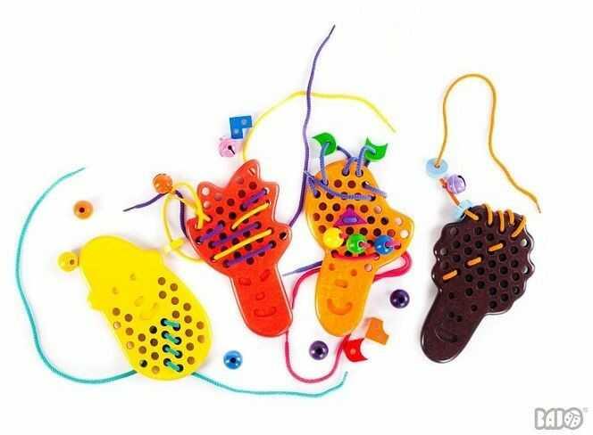Sznurowanie na głowie, 39210-Bajo, zabawki zręcznosciowe