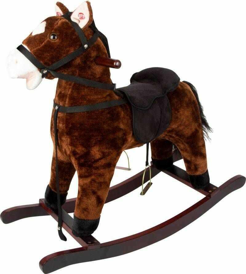 Brązowy koń na biegunach Toffee 11717-Small Foot, zabawki bujane