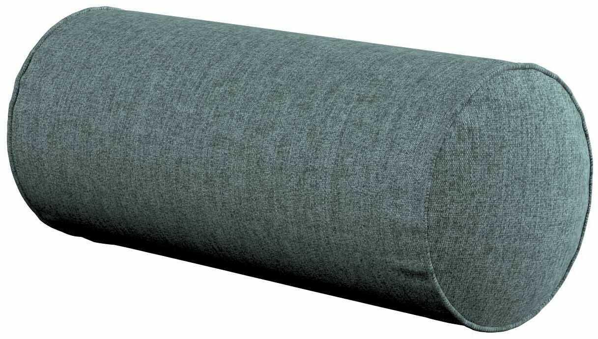 Poduszka wałek prosty, szary błekit szenil, Ø16  40 cm, City