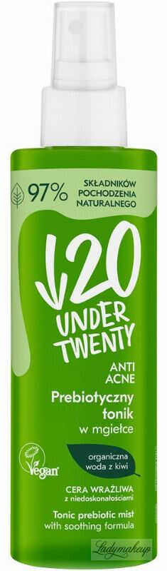 UNDER TWENTY - ANTI ACNE - TONIC PREBIOTIC MIST - Prebiotyczny tonik w mgiełce - Cera wrażliwa z niedoskonałościami - 200 ml
