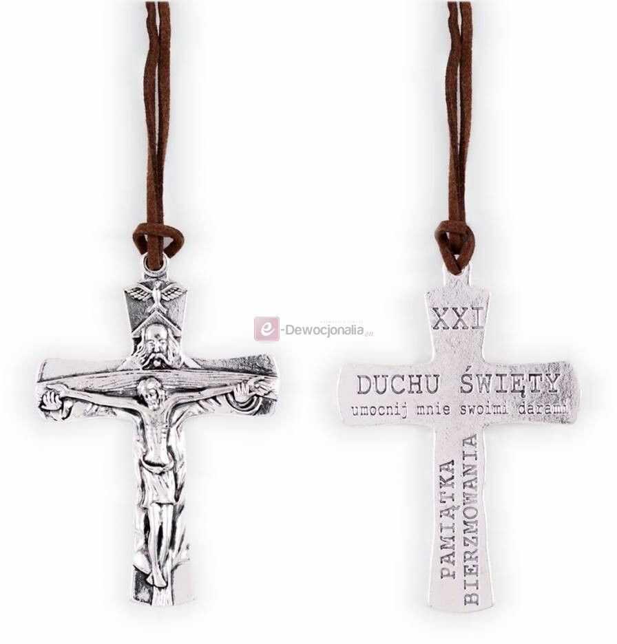 Pamiątka Bierzmowania - Krzyż Trójca Święta - 8cm