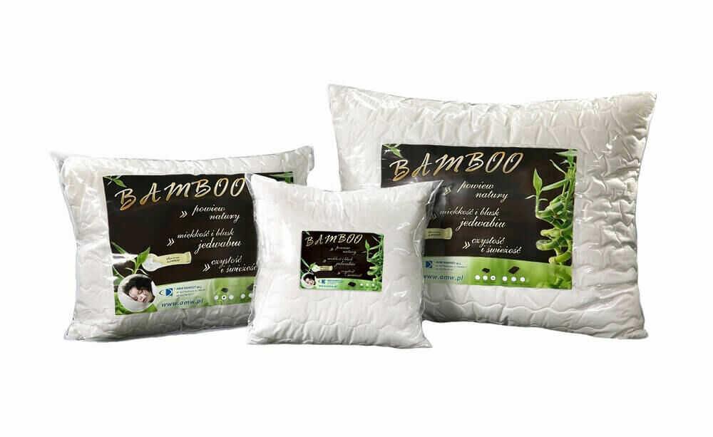 Poduszka antyalergiczna 50x60 Bamboo 0,45 kg biała z włóknem bambusa AMW