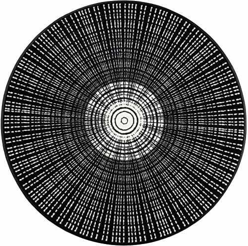 Wash + sucha mata, czarna, 115 cm okrągła