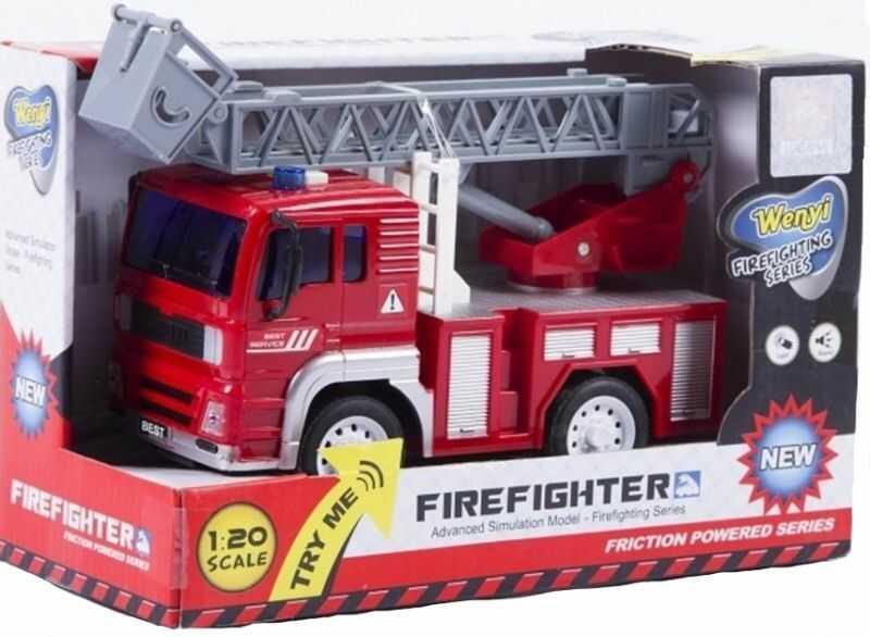 Straż pożarna z napędem 22 cm ZAKŁADKA DO KSIĄŻEK GRATIS DO KAŻDEGO ZAMÓWIENIA