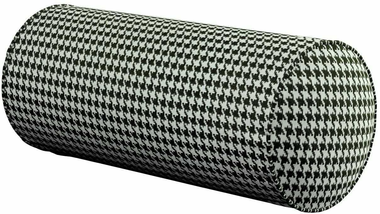 Poduszka wałek prosty, czarno-biała pepitka, Ø16  40 cm, Black & White