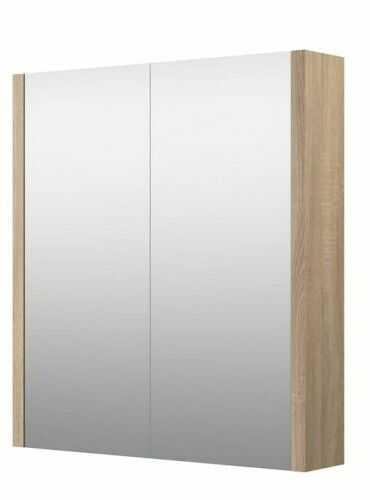 Szafka z lustrem łazienkowa SERENA, dąb Bardolino szary