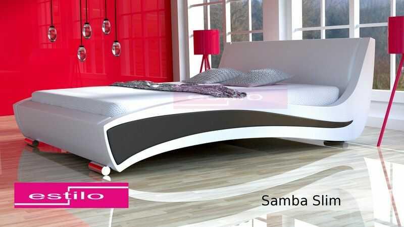 Łóżko do sypialni Samba SLIM - tkanina