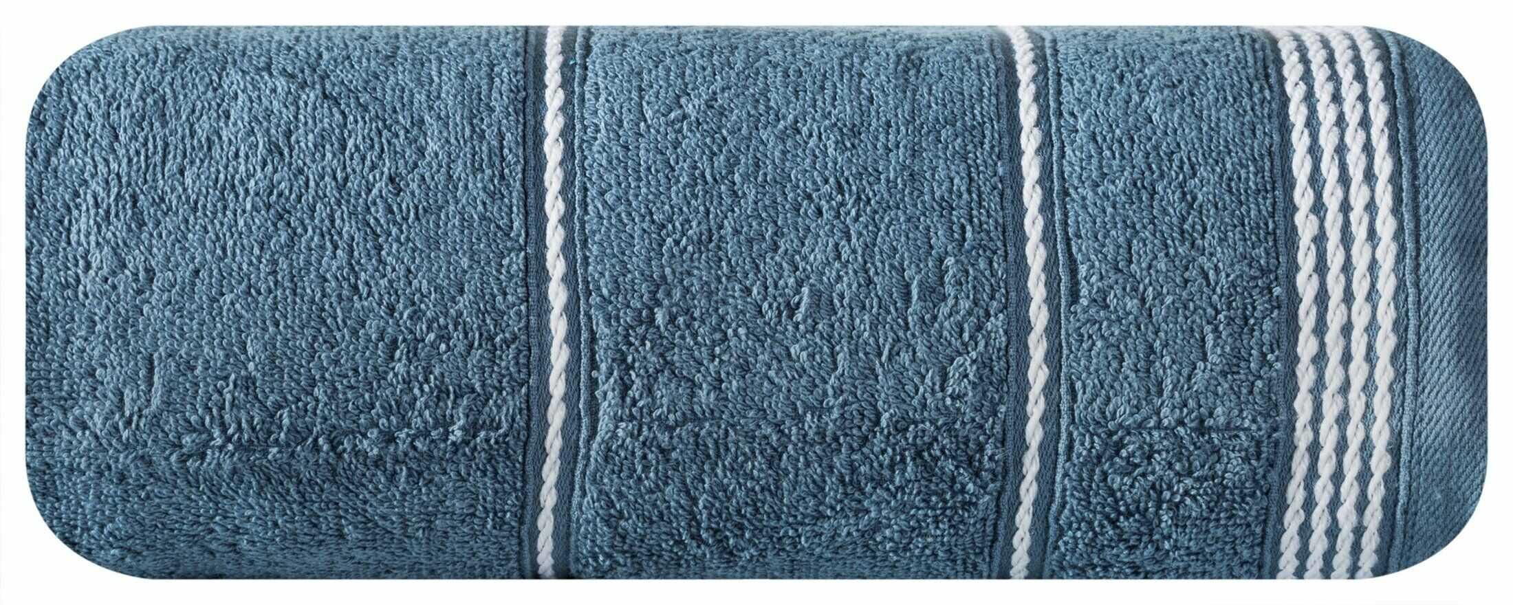 Ręcznik Mira 30x50 niebieski ciemny 10 frotte 500 g/m2 Eurofirany