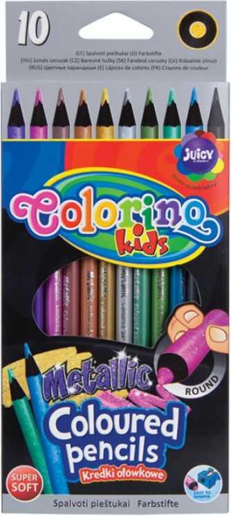 Kredki ołówkowe metaliczne 10 kolorów Colorino 834678