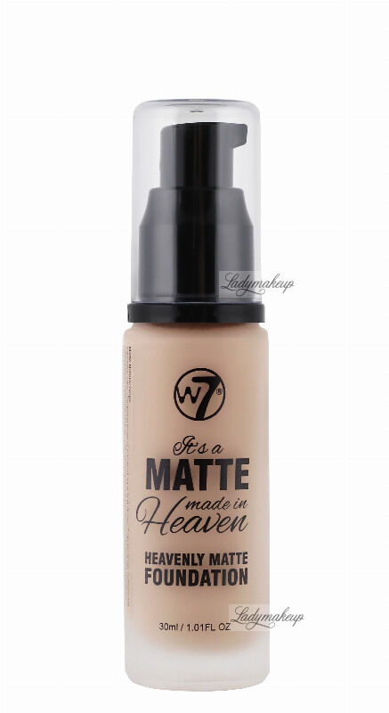 W7 - It''s a Matte made in Heaven - HEAVENLY MATTE FOUNDATION - Matujący podkład do twarzy - EARLY TAN