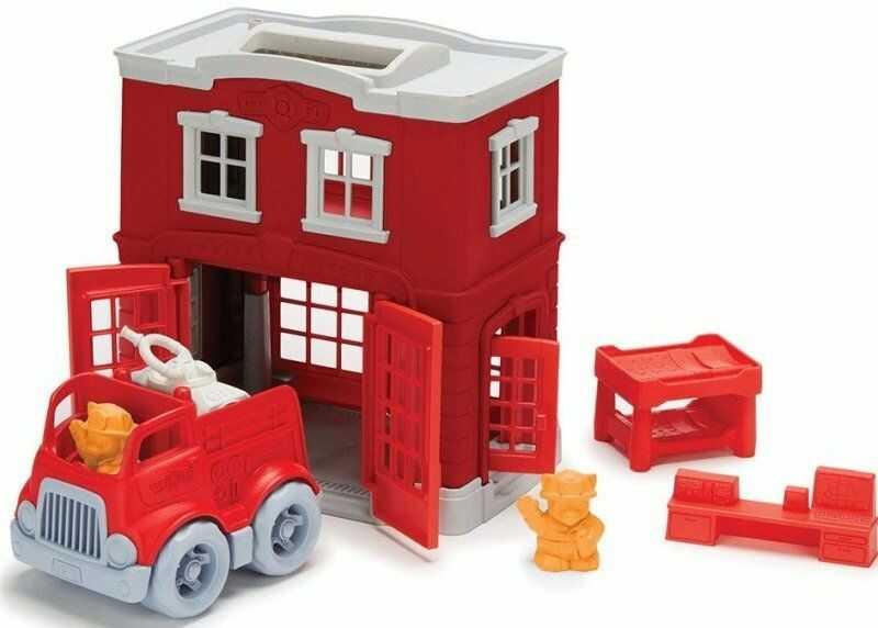 Zestaw remiza strażacka Misja ratunkowa, GTPFIR1156-Green Toys, zabawki dla chłopców